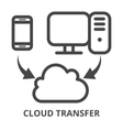 Cloud synchronization icon vector image