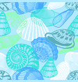 colorful underwater ocean life seamless pattern vector image