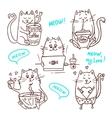 cute cats set 2 vector image
