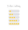 five star rating design isolated vector image