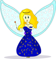 Isolated of fairy vector image