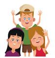 kids friends cartoon vector image