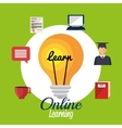 online learning design vector image