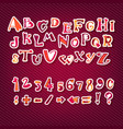 love the alphabet with heart letters i love you vector image