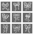 Set of Ornamental Holiday Bows vector image