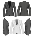 Ladies suit jacket vector image vector image