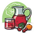 cherry compote vector image vector image