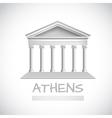 Athens temple emblem vector image