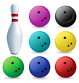 bowling skittles vector image