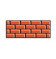 brick wall construction concret image vector image