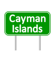 Cayman Islands road sign vector image