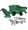 Combine harvester vector image