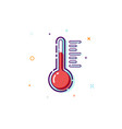 concept thermometer icon thin line flat design vector image