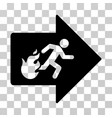fire exit icon vector image