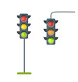 icons of traffic lights isolated on white vector image