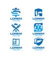 plumbing logo set vector image
