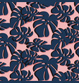 tropical leaf summer pattern trendy floral beach vector image