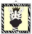 Zebra portrait in zebra frame vector image