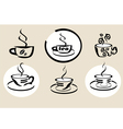 coffe tea menu vector image vector image