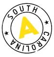 South Carolina stamp vector image