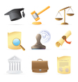 Icons for law vector image