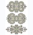 ornamental floral adornment vector image