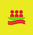 rafting kayaking team design vector image