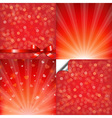 Red Backgrounds Set With Bokeh vector image vector image