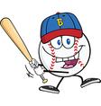 Cartoon baseball design elements vector image vector image