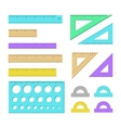 Ruler icons vector image