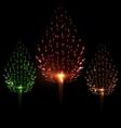 Festive firework three different color shape pine vector image