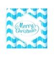 Merry Christmas Greetings Postcard with Vintage vector image