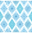 abstract blue doodle rhombus seamless vector image