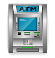 atm - automated teller machine metal construction vector image