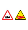 Attention Turkey Warning sign for Turkish country vector image