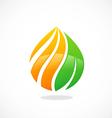 eco swirl water drop symbol logo vector image