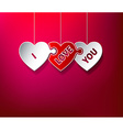 I Love You puzzle hearts vector image