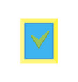icon tick check mark test green symbol approve vector image
