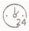 people clock time icon vector image