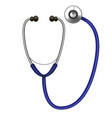 realistic detailed stethoscope diagnostic vector image
