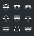 set of various bridges icons vector image