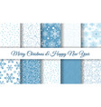snowflake patterns collection vector image