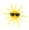 sun with black glasses vector image