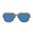 sunglasses accessory design vector image