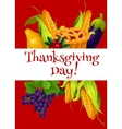 Thanksgiving Day meal abundance greeting banner vector image