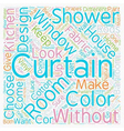 Without drapes is it curtains text background vector image