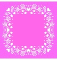 Floral frame with small flowers and hearts vector image vector image