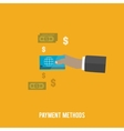 Business concept Payment methods vector image