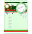 al 0329 italian restaurant menu vector image