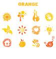 orange theme vector image